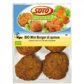 bio mini burger di quinoa soto fresco